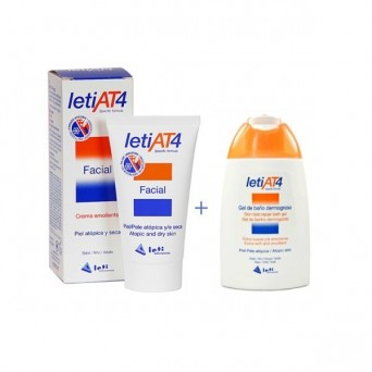 LetiAT4® facial 50ml + Obsequio Gel de Baño dermograso 100ml