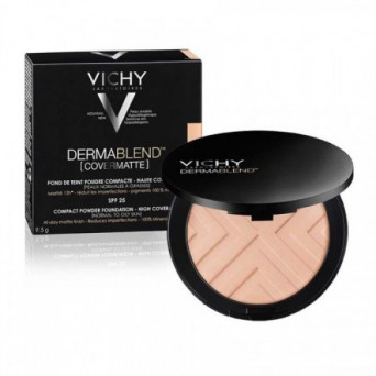 VICHY DERMABLEND COVERMATTE MAQUILLAJE COMPACTO SPF25 SAND 35 9
